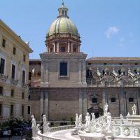 ITALIA Sicilia Piazza Fontana Pretoria e Iglesia de San Jose de Teatini  Palermo, Палермо