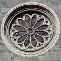 Esterno Basilica di SantAndrea di Vercelli...dettaglio rosone, Верцелли