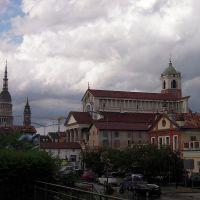 Vista di Novara con Cupola e Duomo, Новара