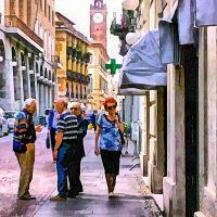 Novara - Aspetti pittorici del centro urbano (03) - Pictorial aspects of urban center, Новара