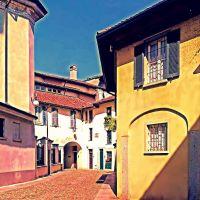 Novara - Aspetti pittorici del centro urbano (15) - Vicolo Canonica - Pictorial aspects of urban center, Новара