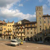 Piazza Grande de Arezzo, Italia, Ареццо