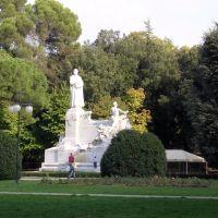 """Arezzo - Passeggio del """"Prato"""" - Monumento a Francesco Petrarca, Ареццо"""