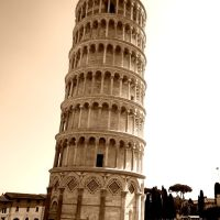 Pisa tower in Italy, Пиза