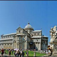 PISA -  Great Panorama- UNESCO World Heritage - Torre pendiente di Pisa (Campanile) - Duomo - Battistero di San Giovanni - Panorama di Camposanto Monumentale - Piazza dei Miracoli - Italy - [By Stathis Chionidis], Пиза