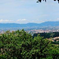 Panorama di Prato, verso Pistoia, Прато