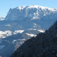 Colle - Kohlern: vista dello Sciliar (Schlern), Больцано