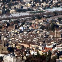 Vista dalla funivia Bolzano/Colle - Bozen/Kohlern, Больцано
