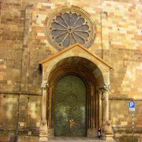 ITA - Bolzano (Bozen) - The brass door of Duomo di Bolzano Maria Himmelfahrt, Больцано