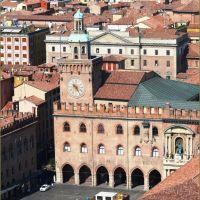 Bologna-Palazzo dAccursio dagli Asinelli, Болонья
