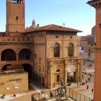 Bologna - Palazzo Re Enzo - e -  La Fontana del Nettuno ! ( Splendida veduta emozionante!!! ), Болонья