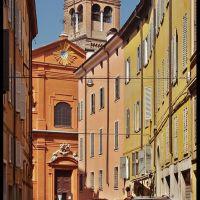 Modena - Via Ruggera e Chiesa di S.Barnaba, Модена