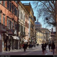 Strada Garibaldi in Parma - Spring Light in Garibaldi Street at Parma, Парма