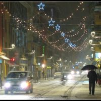 Parma:  Christmas 2010, Snowfall in Garibaldi Street - Natale 2010: Nevicata in Strada Garibaldi, Парма