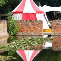 Tenda medioevale, Parma Fantasy al parco Eridania, Parma, Emilia Romagna giugno 2011, Парма