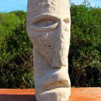 Maschera in trachite grigia scolpita da Uccheddu, Парма