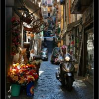 The street in quarter Spagnoli in Napoli - Italy, Неаполь