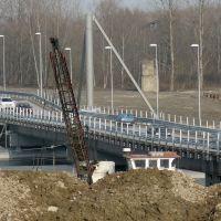 2010 Ponte di barche sul fiume Po a Piacenza Italia, Пьяченца