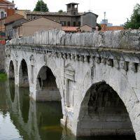 Ponte di Tiberio, Rimini, Римини