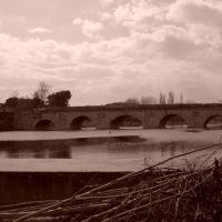 Rimini: Ponte di Tiberio from Lungomarecchia Ruggero Diotallevi, Римини