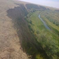 Вид на реку Уил с обрыва на Мойке, Уил