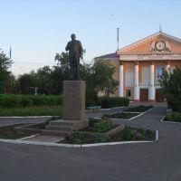 Lenin statue, Khromtau, Хромтау