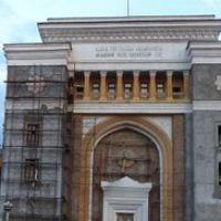 Академия Наук Казахской ССР, панорама из 12-ти фотоснимков, 2007г., Алма-Ата