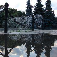 Фонтан возле академии_2007г., Алматы