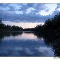 Закат на реке Или, Баканас