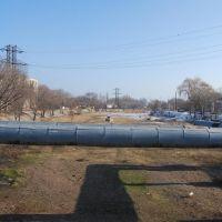 """Канал """"Шошкалысай"""", вид с моста в сторону водохранилища, Капчагай"""