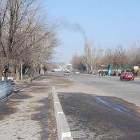 """Канал """"Шошкалысай"""", вид с моста в сторону дороги на АТК, Капчагай"""