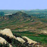 Вид с горы Двухгорбовка в сторону станции Предгорная, Верхнеберезовский