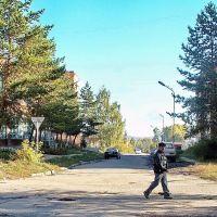 Взгляд от бывшей школы им. Ленина вдоль ул. Стахановской, Зыряновск