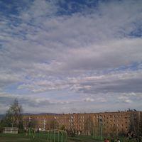 Зыряновск - Школа №6, небо как перина, Зыряновск