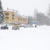 Зима 2013 площадь ленина - перекресток, Зыряновск