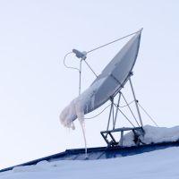 ул. Советская, спутниковая тарелка на крыше магазина М Техникс, Зыряновск