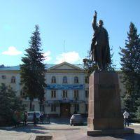 Памятник Ленину перед управлением Зыряновского ГОКа, Зыряновск