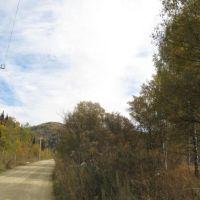 Новая линия электропередач на Карагужиху., Карагужиха