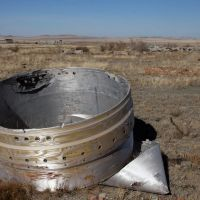 A part of RS-20 missile in the former ICBM logistics base, Катон-Карагай