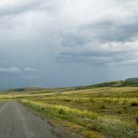 Обочина грызёт полотно дороги.., Катон-Карагай