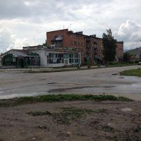 г. Риддер, июль 2014 года, перекресток ул. Гоголя и ул. Ауэзова, Лениногорск