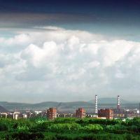 вид на город с бизнес центра радуга, Самарское