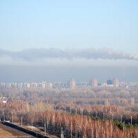 Неблагоприятные погодные условия ;)  газ над городом, Самарское