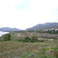 Вид на реку и город от больницы, Серебрянск