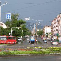 После дождя [Усть-Каменогорск, центр, Ауэзова-Орджоникидзе], Усть-Каменогорск