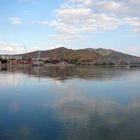 Речной порт на Иртыше / River port on Irtish, Усть-Каменогорск