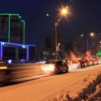 ночной проспект победы, Усть-Каменогорск