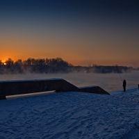 Припозднившийся рыбак, Усть-Каменогорск
