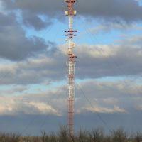 Radio mast at road., Атырау
