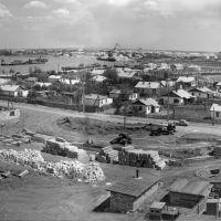 Ул. Шамина, в то время, когда она только строилась - 1956 год, Атырау(Гурьев)
